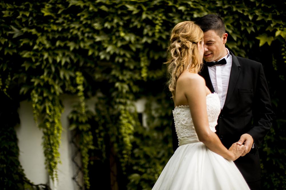 молодожены в день свадьбы
