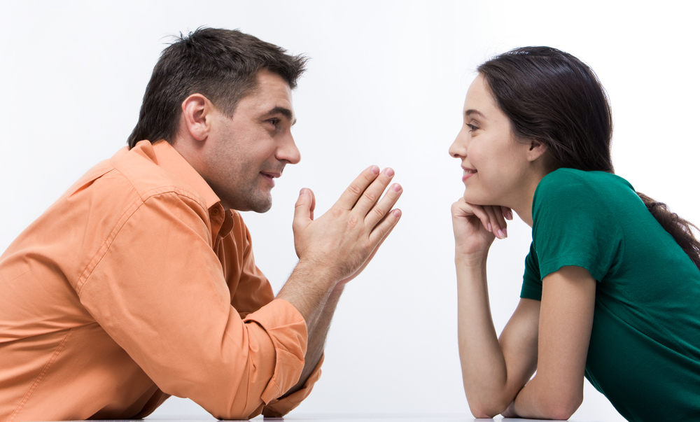 разговор между мужчиной и женщиной
