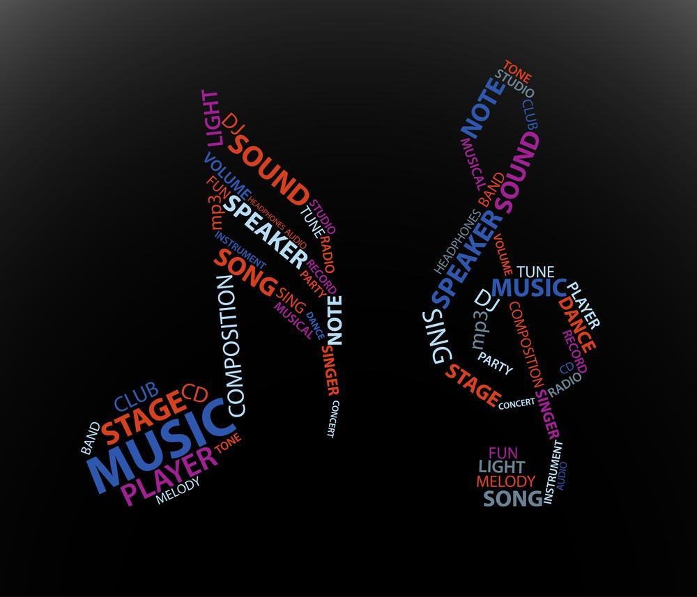 скрипичный ключ из слов