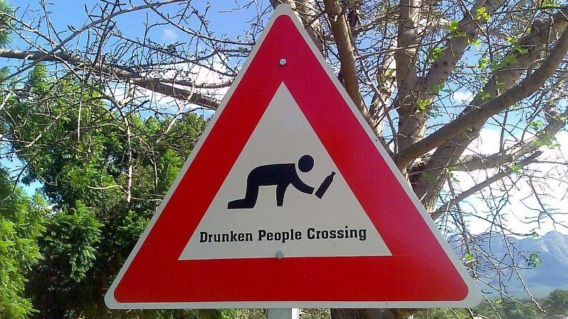 """Знак """"Пьяный пешеход"""""""