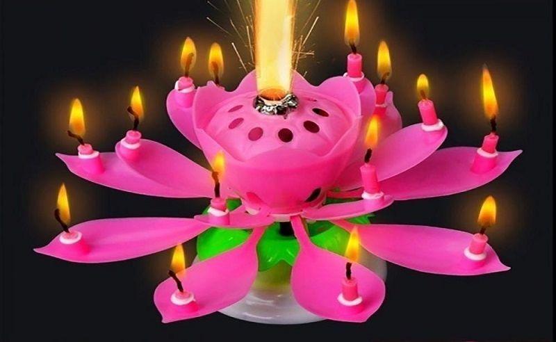 Свеча-цветок на торт