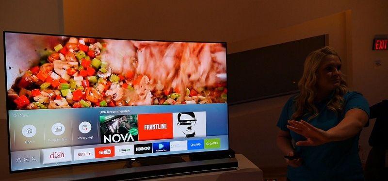 Изображение на экране телевизора