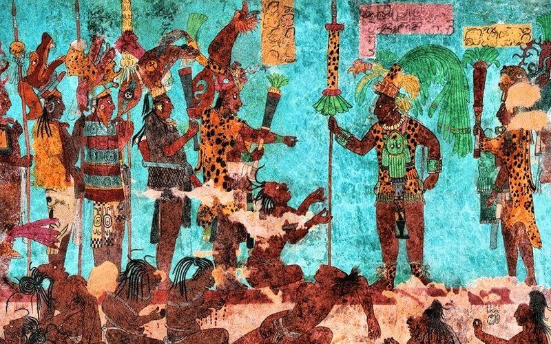 Голубой цвет в рисунках племени майя
