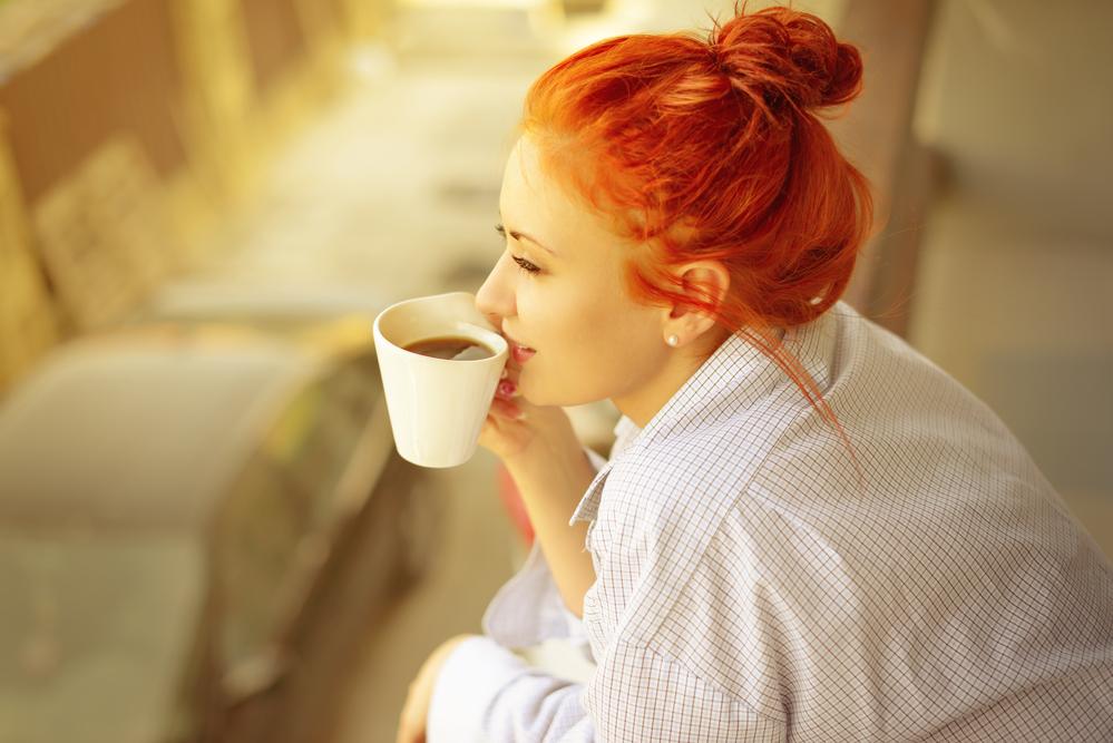 доброе утро с чашкой кофе