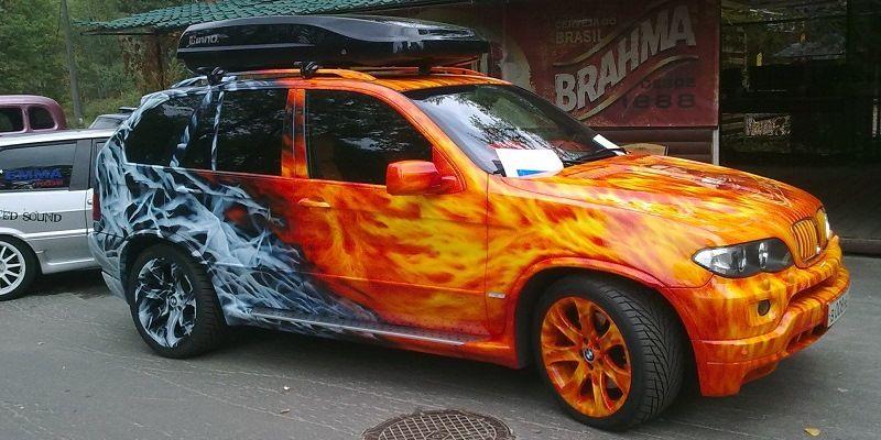 Fire and graffiti