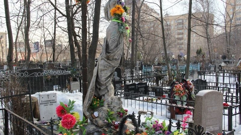 The grave of the famous criminal Sonya