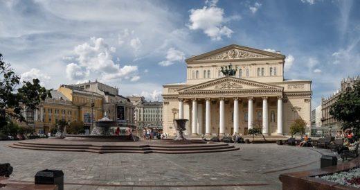 Площадь у Большого театра в Москве