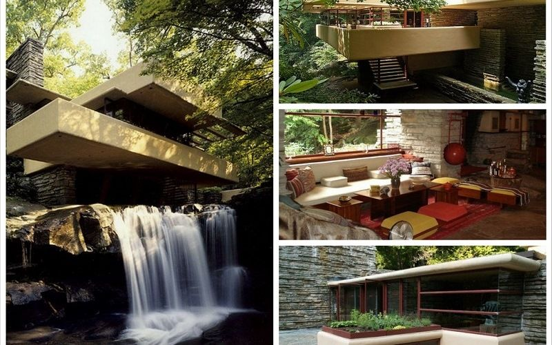 The house on the waterfall in Pennsylvania