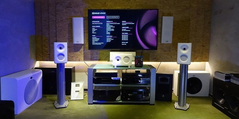 Placement of equipment for Dolby Atmos