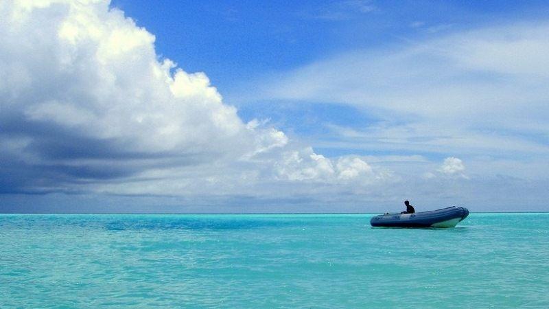Лодка в Индийском океане