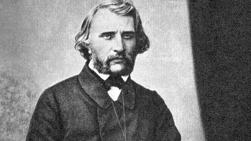Ivan Turgenev in his youth