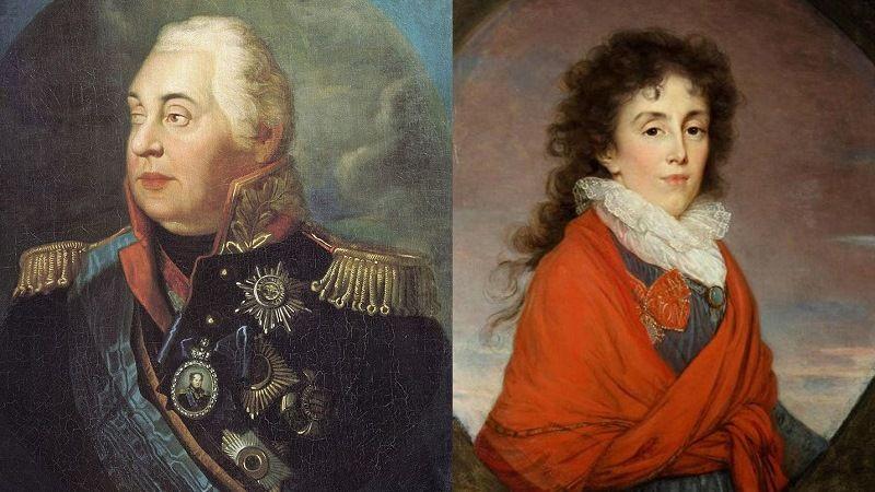 М.Кутузов с женой - Екатериной Бибиковой