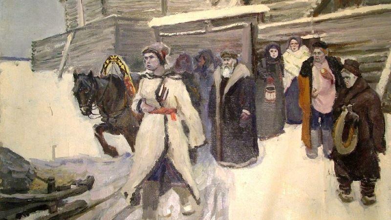 Ломоносов отправляется в Москву