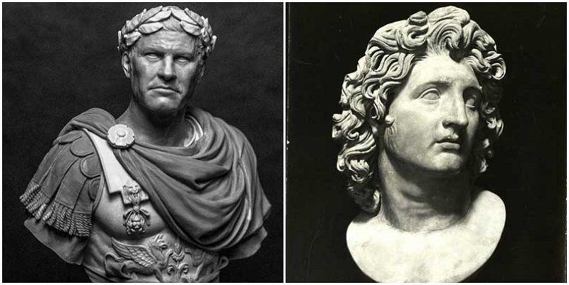 Юлий Цезарь и Александр Македонский