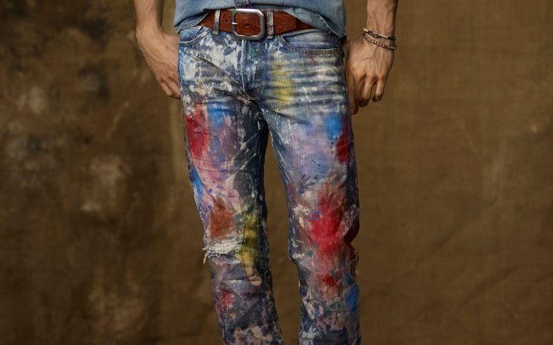 Графити на джинсах