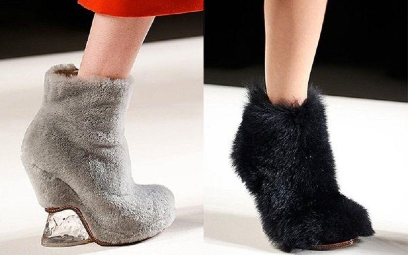 Модельная обувь из войлока и меха