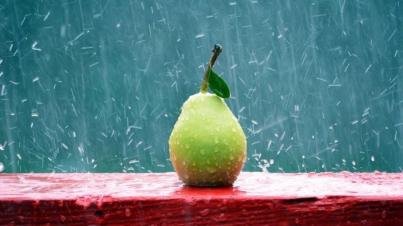 Дождь с овощами и фруктами