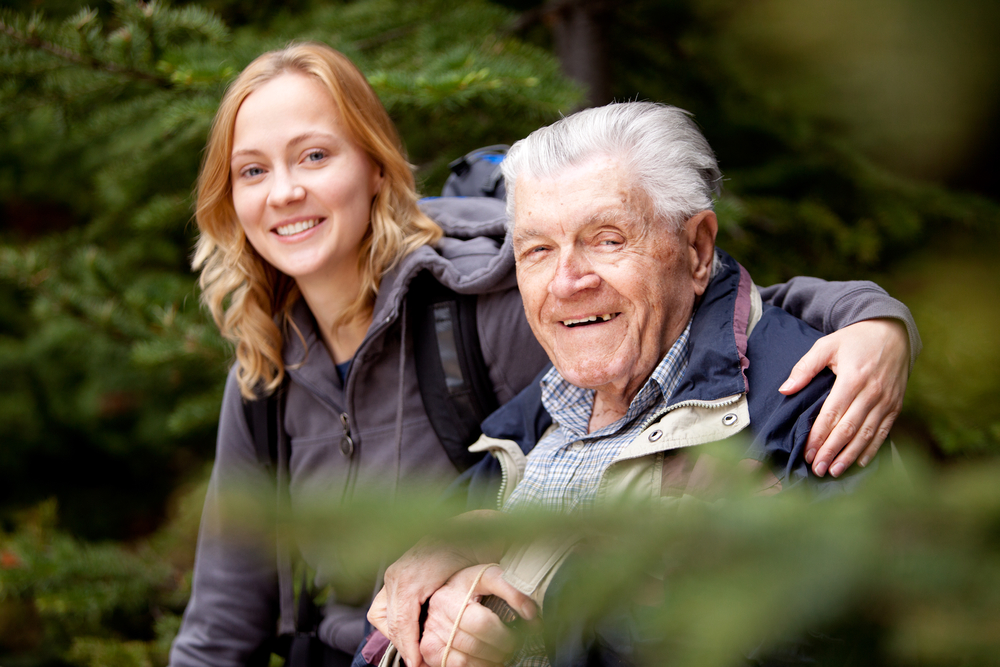 портрет дедушки и внучки