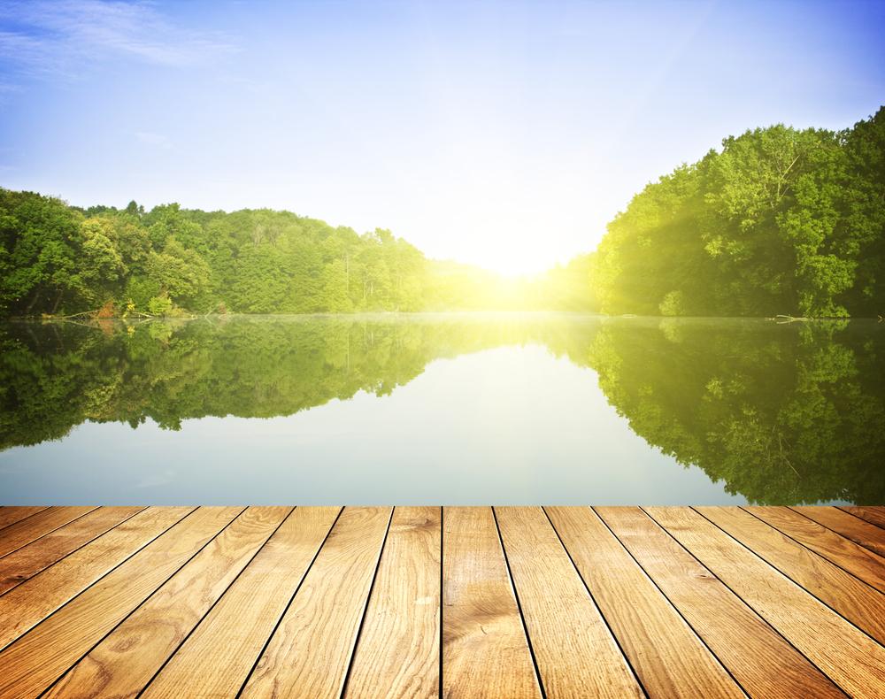 озеро в июле