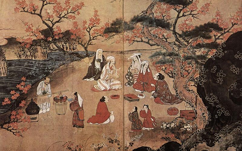 Японская картина 16 век