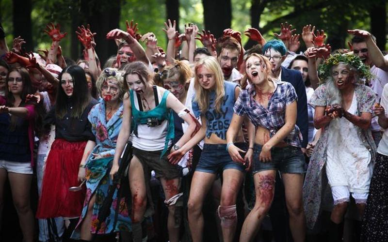 Зомби-моб в Санкт-Петербурге